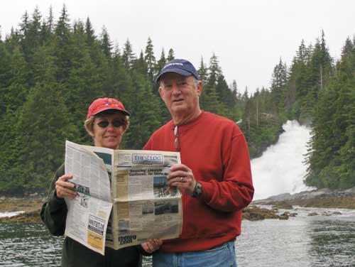 Mr. and Mrs. Bradford Simmons at Baranoff Island, Alaska