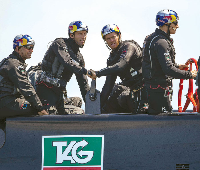 America's Cup Sailors Don Body Armor and Helmets