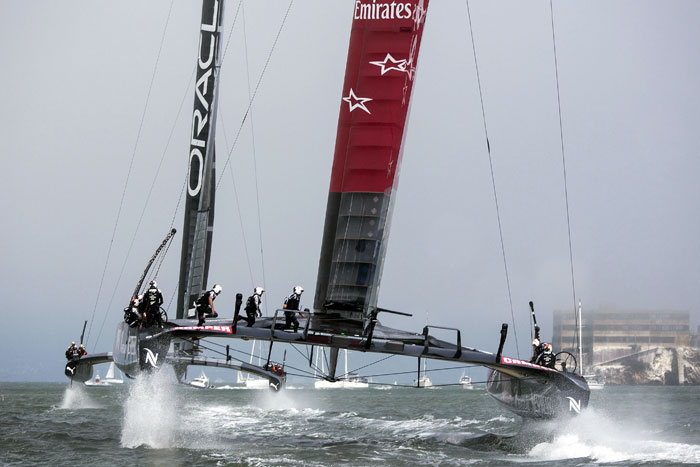 America's Cup Racing Underway in San Francisco