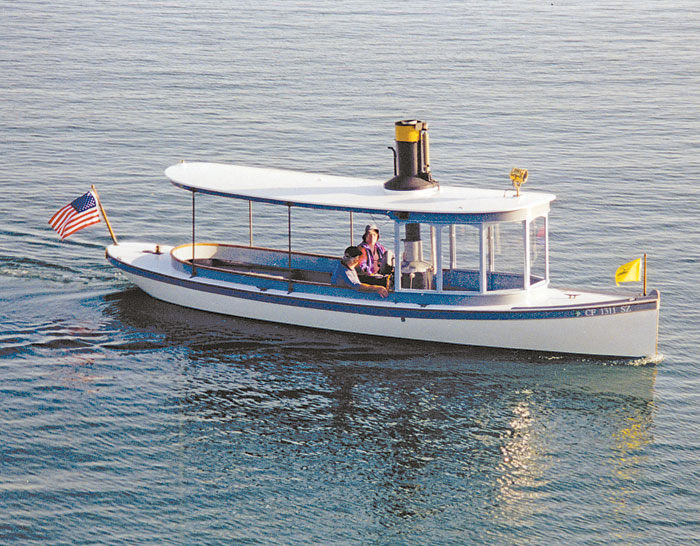 Steamboat Amity Attracts Attention on the Bay
