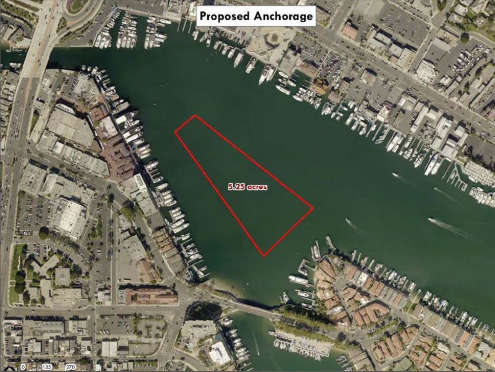 Newport Beach Harbor Commission recommends public anchorage