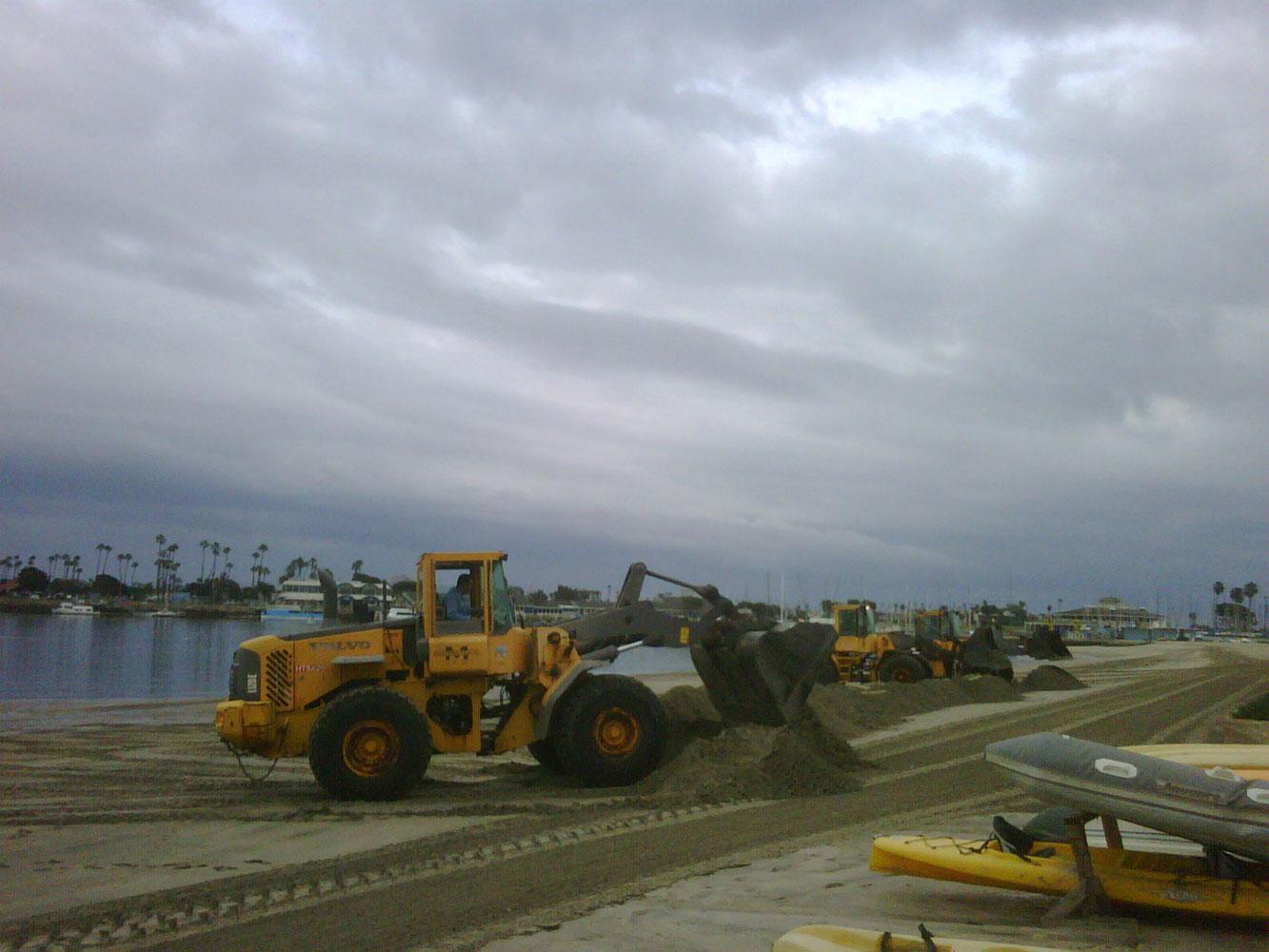 Long Beach berms protect beaches along the peninsula