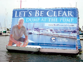 Cal Boating Launches Floating Billboards to Promote Pollution Awareness