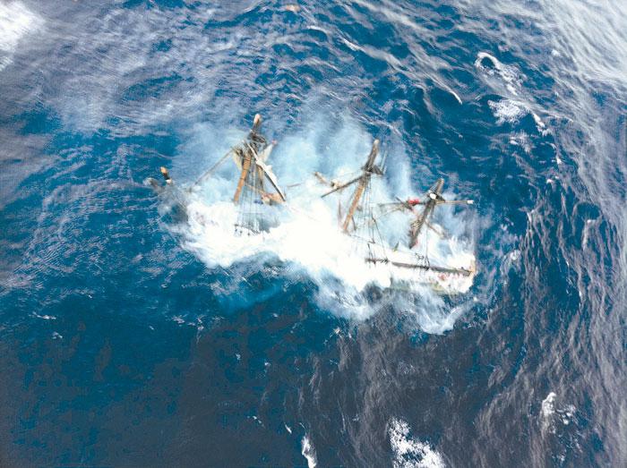 Hurricane Sandy Sinks Tall Ship
