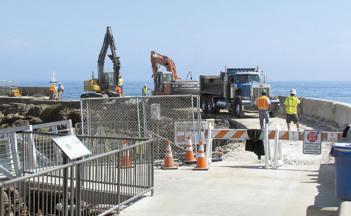 Santa Barbara Breakwall and Walkway Get a Facelift