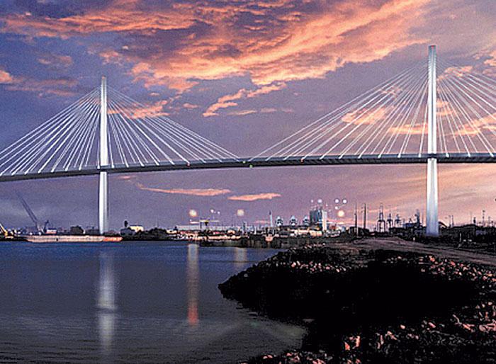 Port of Long Beach Starts Building New Bridge