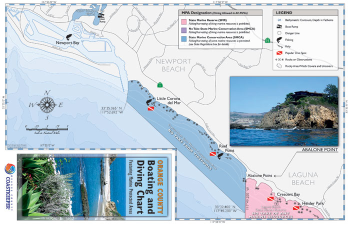Coastkeeper Provides Chart for Boaters and Divers