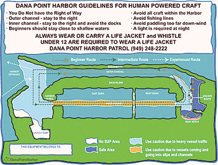 Paddlers and Kayakers in Dana Point Identified with Lanyards