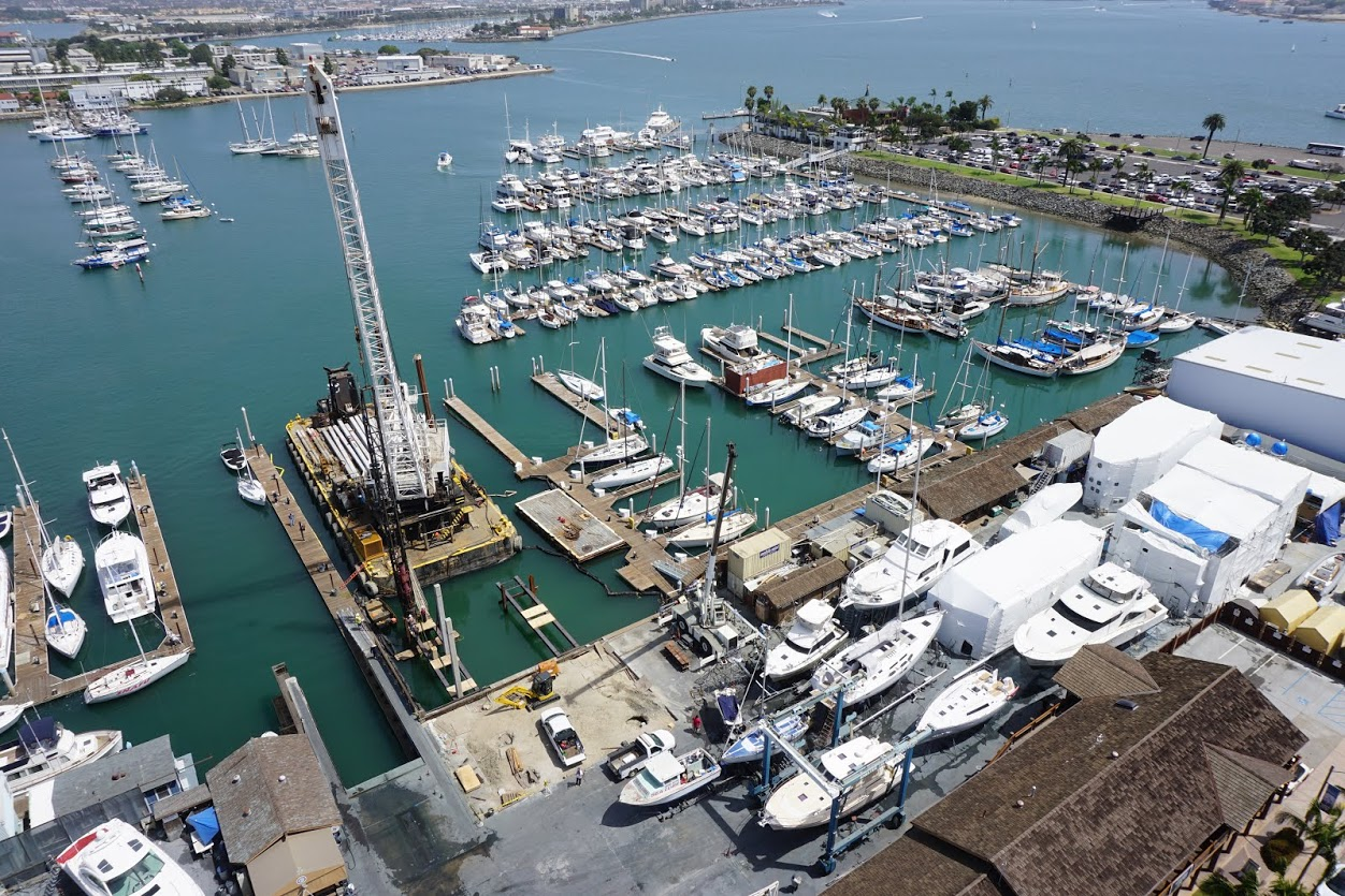 New lifts arriving at Shelter Island Boatyard