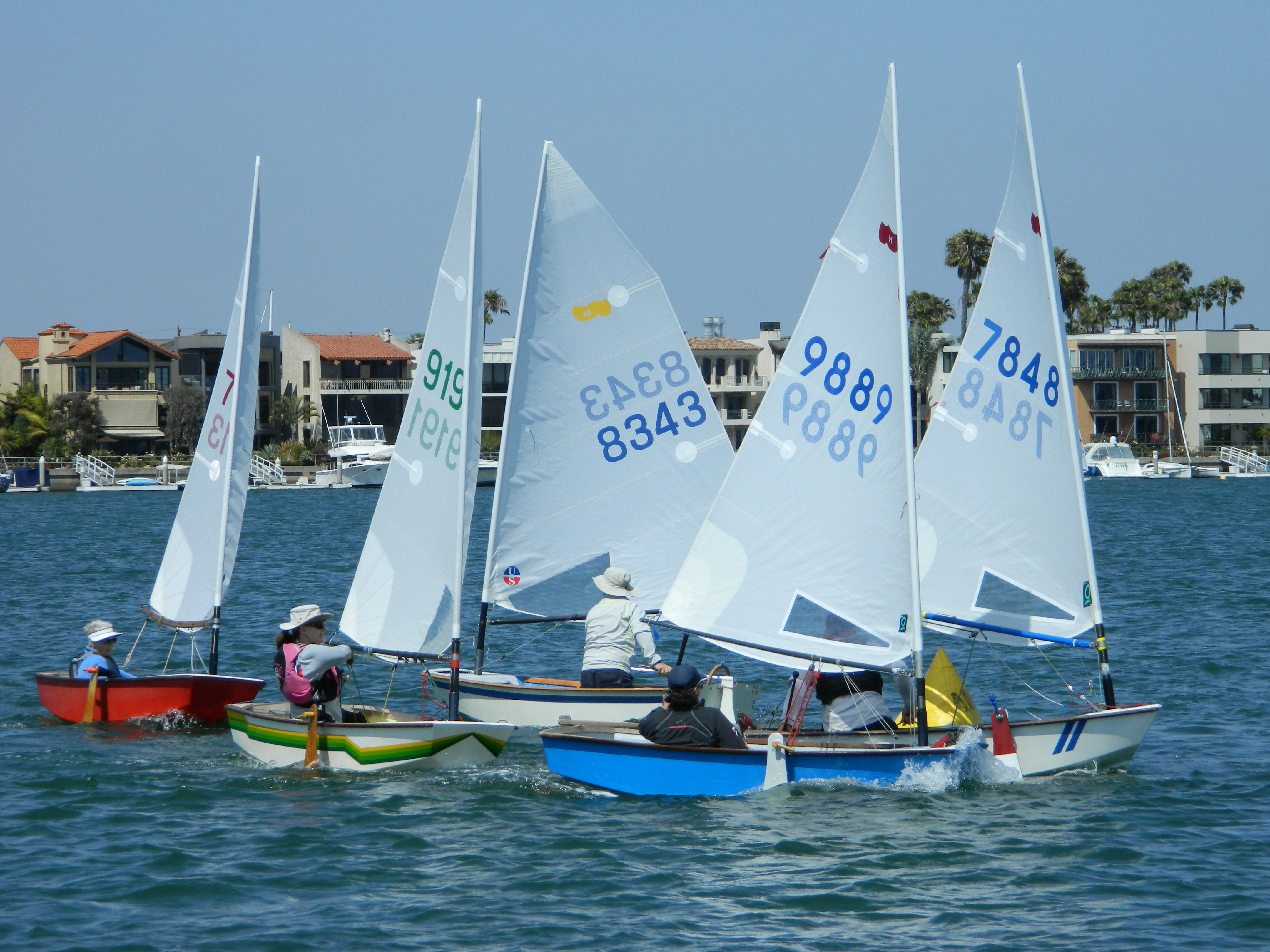 Seasoned sailors race in annual Senior and Masters Sabot Nationals