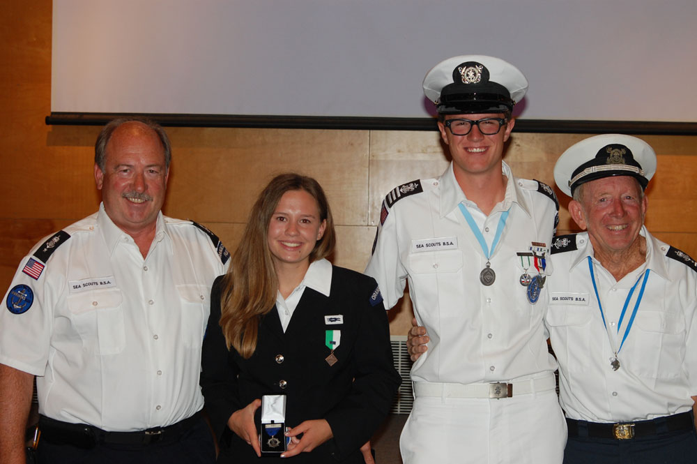 2 OC teens earn highest Sea Scout honors