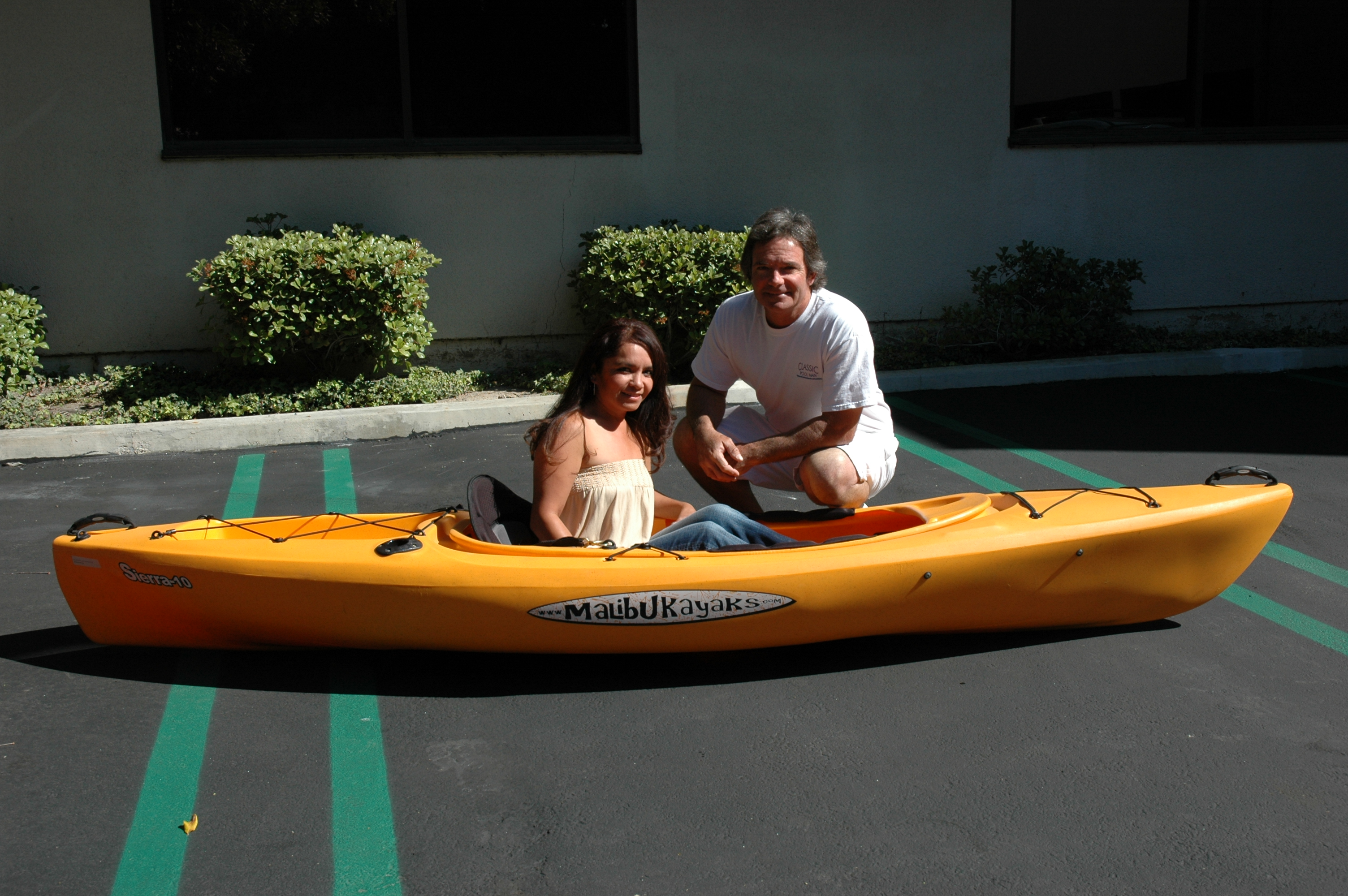 Azury Dunne wins kayak in The Log's Fred Hall Show Giveaway