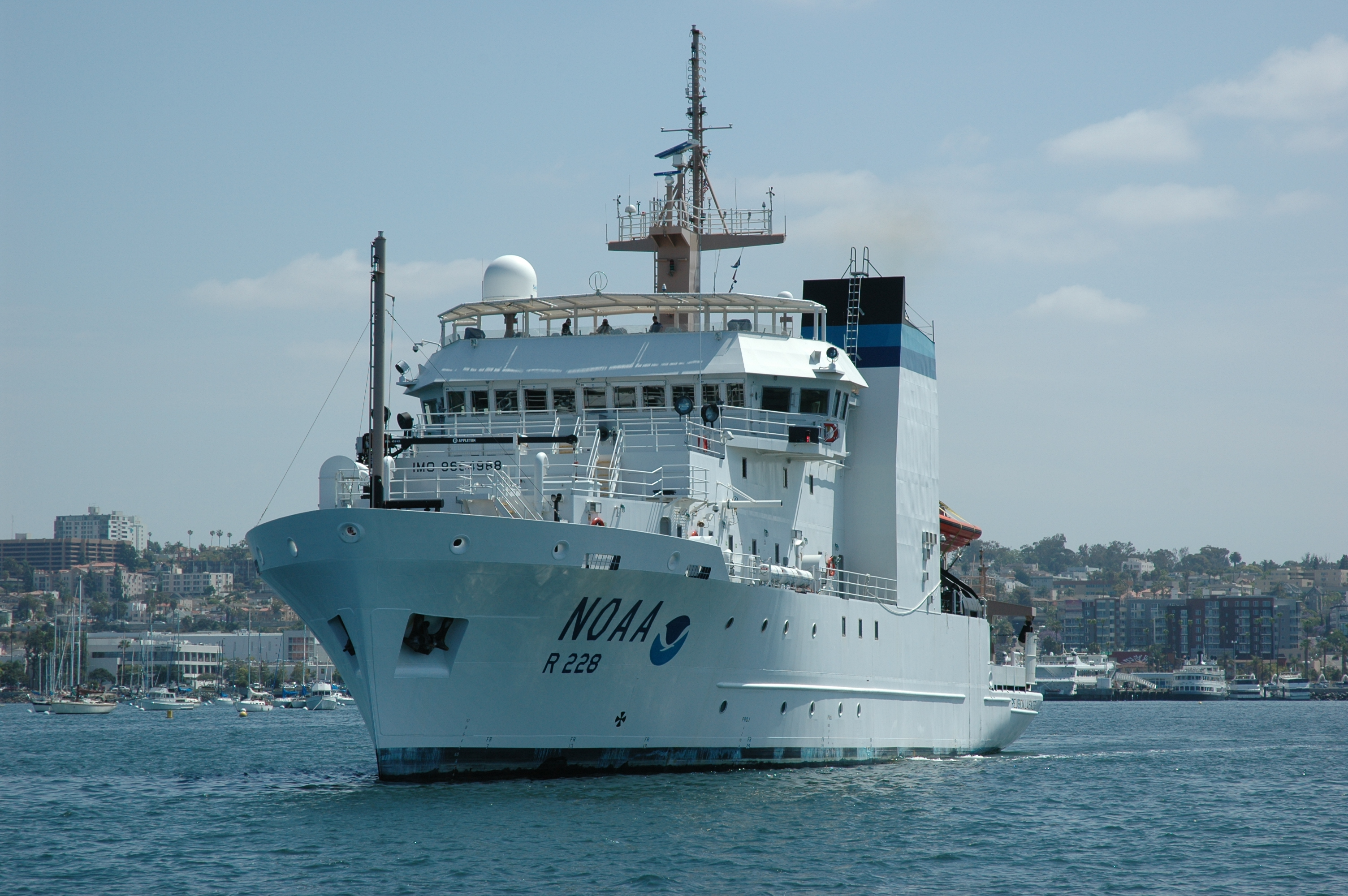 NOAA's newly commissioned Ruben Lasker sets out to sea