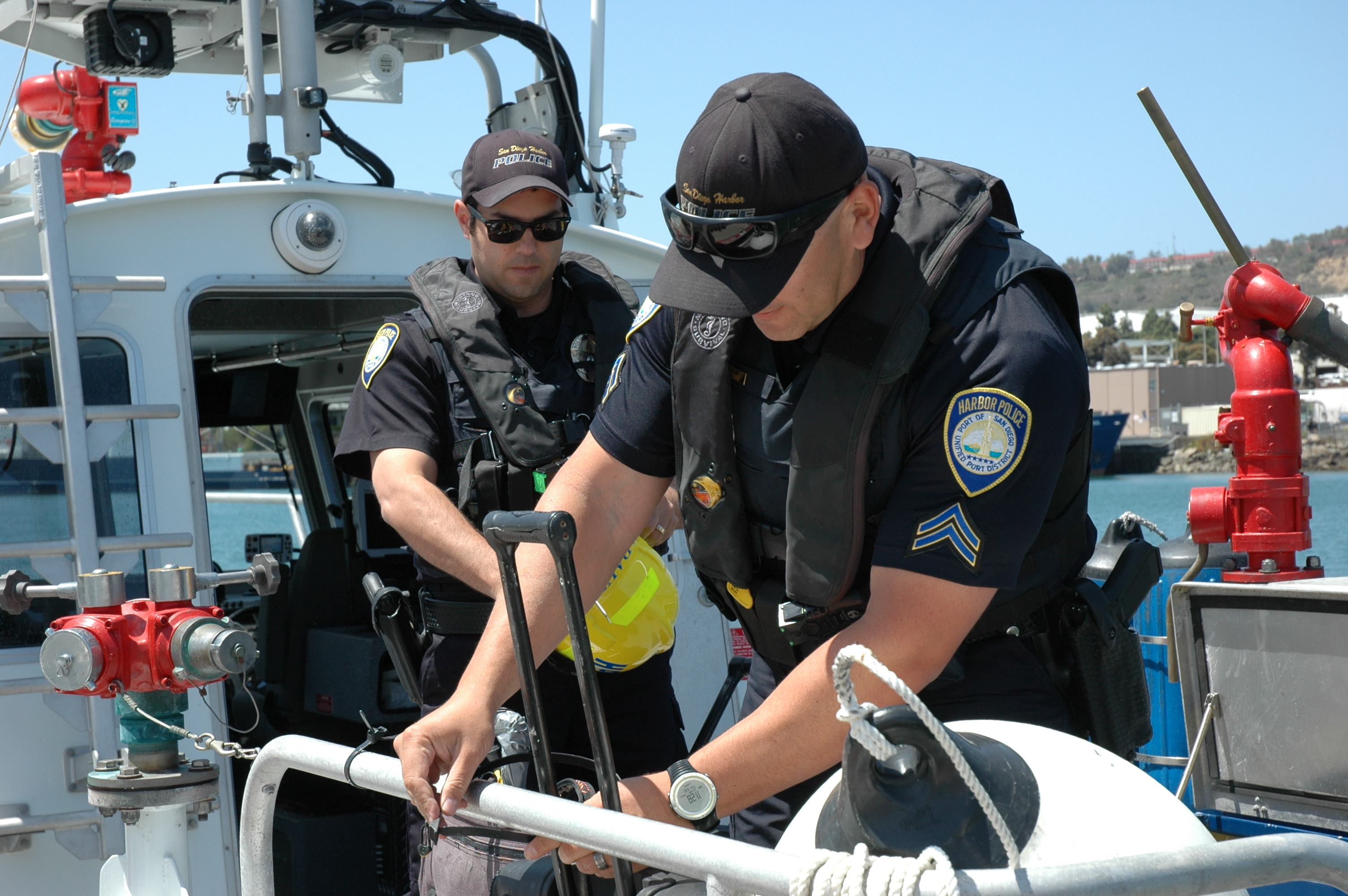 Banuelos, San Diego Harbor Police ready at moment's notice