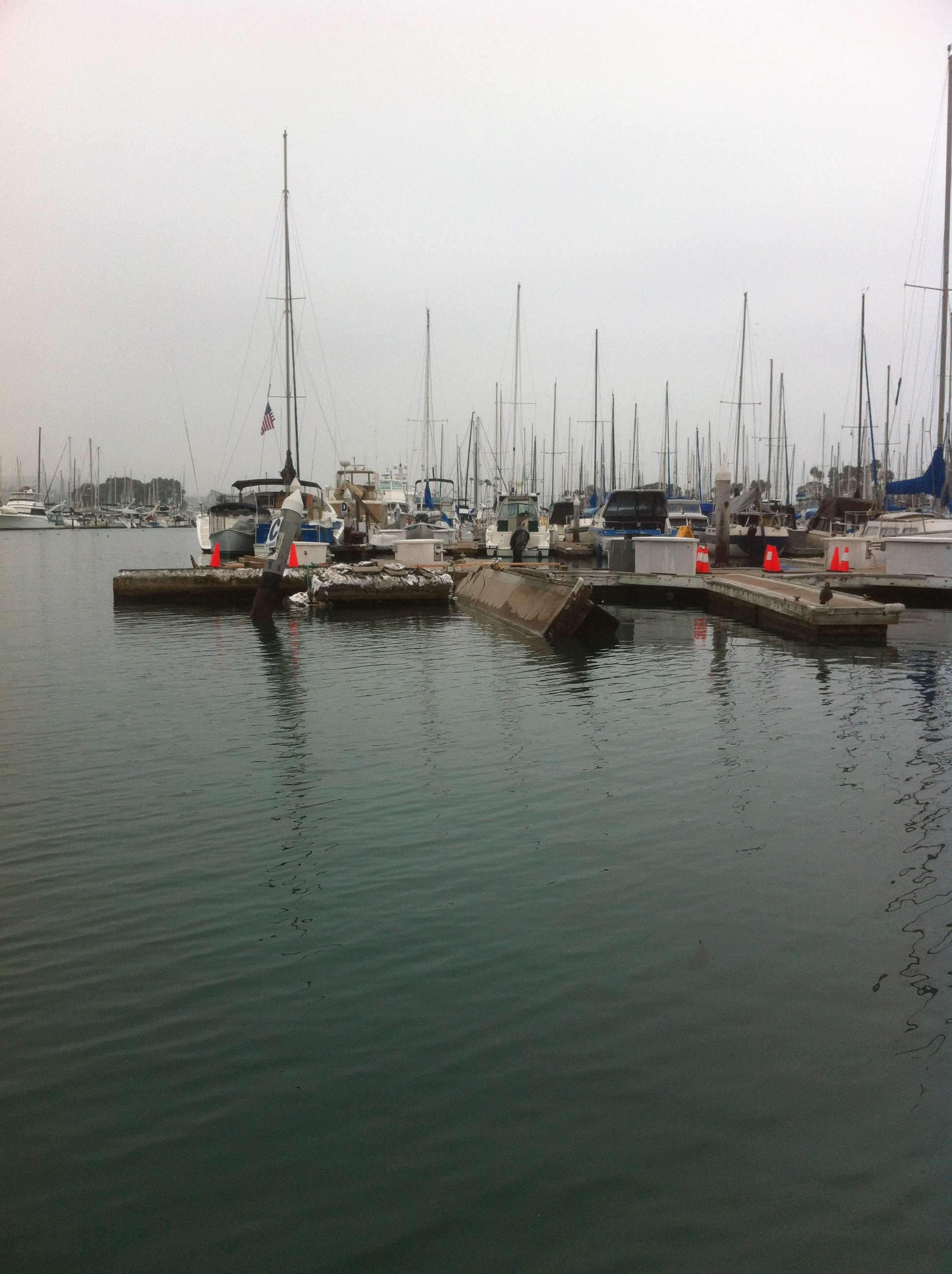 Sportfisher Crashes into Dana Point Docks