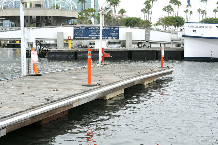 Long Beach Removes Rainbow Harbor Dock