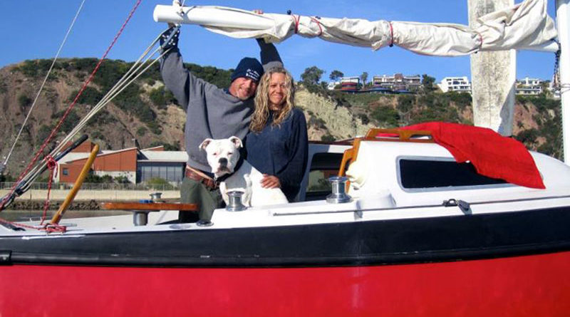 Dog Rescued by Ocean Institute Crew in DP Harbor