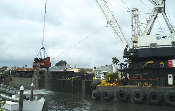 Newport Harbor Dredging Almost Finished