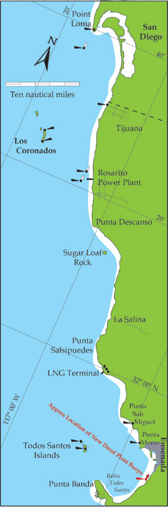 Buoys will Mark New Desalination Plant South of Ensenada