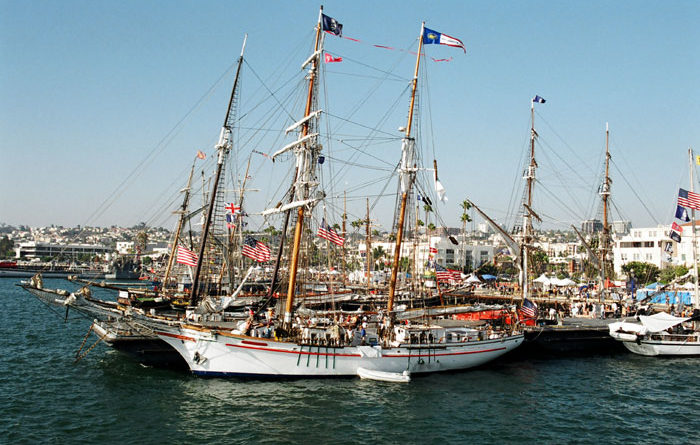 Festival of Sail to Dock in San Diego Bay