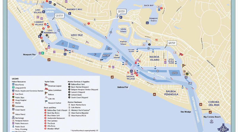 Newport Harbor Cruising Guide Booklet Updated