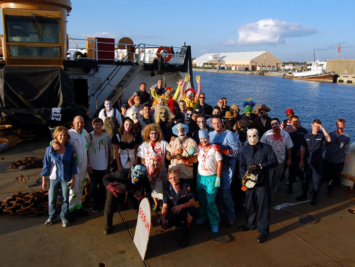 Coast Guard Crew Decorates Cutter for Halloween