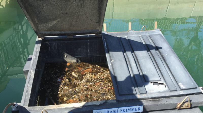 Trash skimmers in Dana Point, San Diego keep harbor waters clean