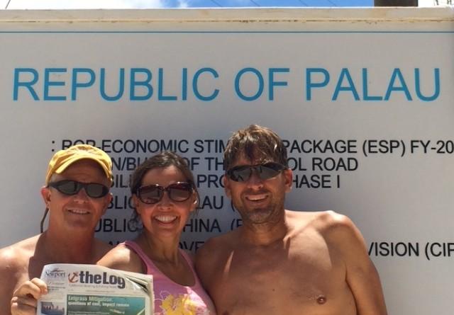 Log on Palau