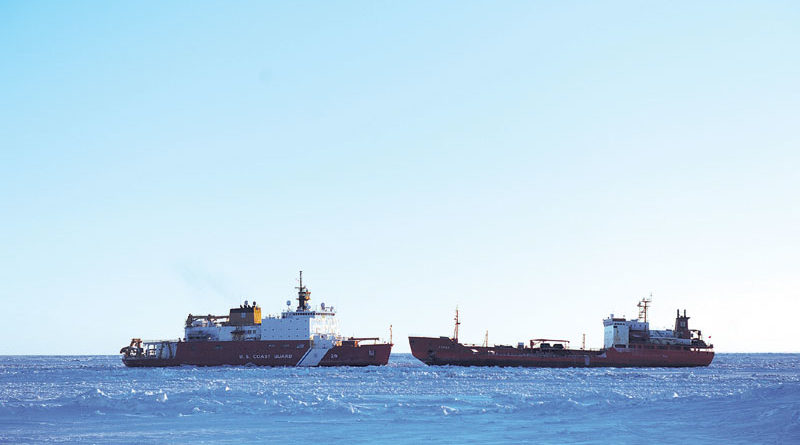 Tanker and Icebreaker Head Home After Delivering Fuel to Nome
