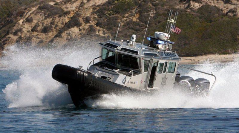 OC Sheriff's Harbor Patrol secure shorelines with interdiction vessel