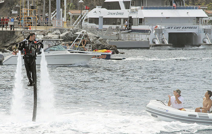 Jet Pack Rider Sets Record in Catalina Crossing