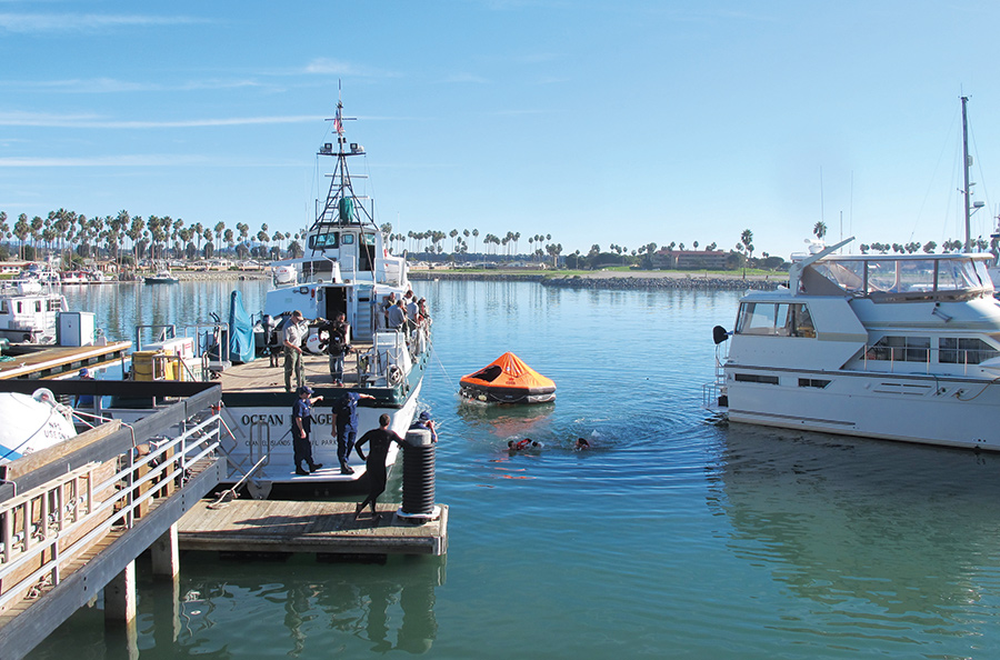 Channel Islands National Park, U.S. Coast Guard provides water safety training