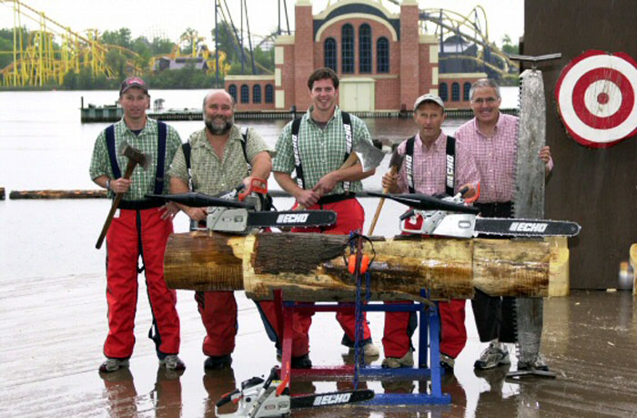 See Paul Bunyan Lumberjack Show at Del Mar
