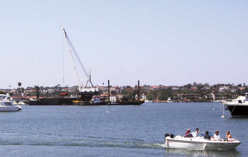 Newport Harbor Dredging Planned Day and Night