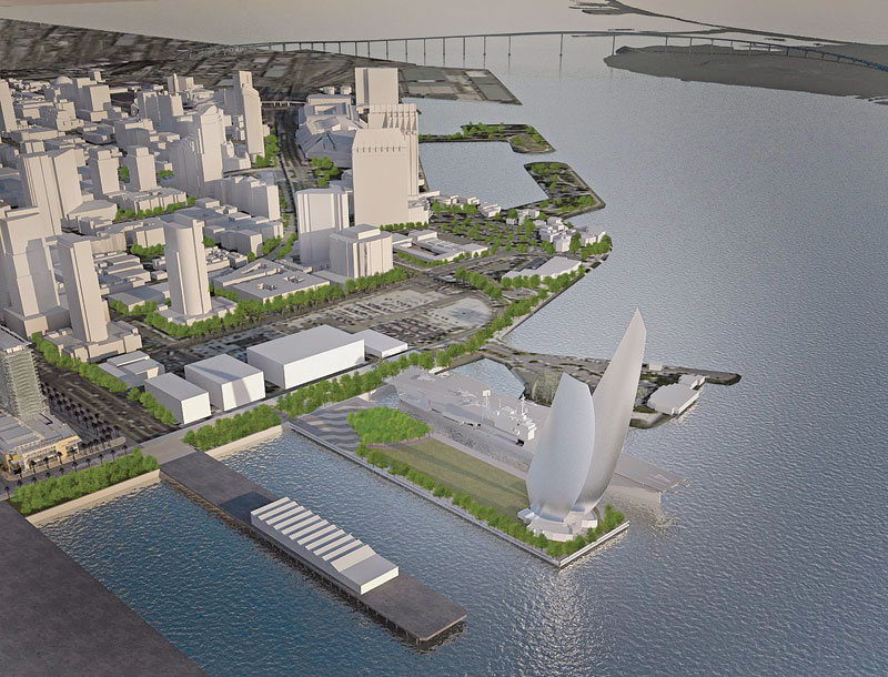 500-foot Sail Sculpture Proposed for Navy Pier