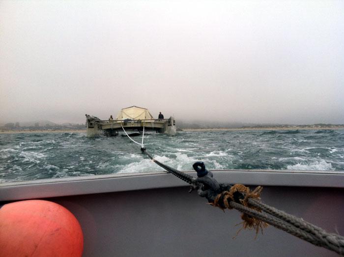 Plastic Catamaran Gets a Long-Distance Tow