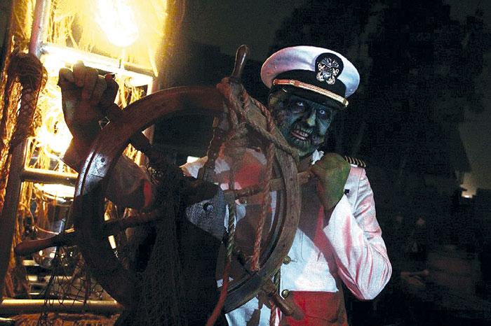Queen Mary Goes 'Dark' for Halloween