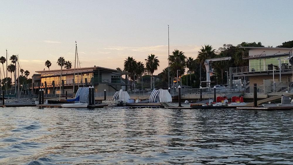 Newport Beach Sea Base Rowing Club creates unique Christmas Boat Parade entry