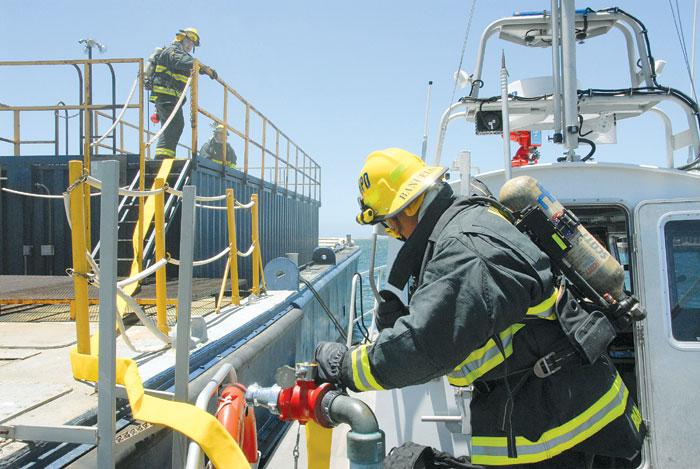 San Diego Harbor Police Cross-Train to Battle Fires