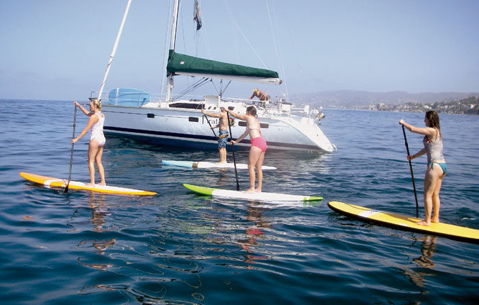Local Mixes Paddleboarding, Yoga and Boating