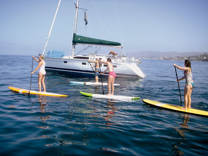 Local Mixes Paddleboarding, Yoga and Boating