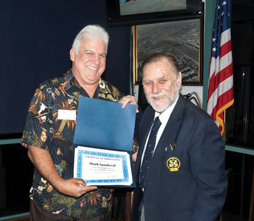 Mark Sandoval honored for service to Long Beach marinas