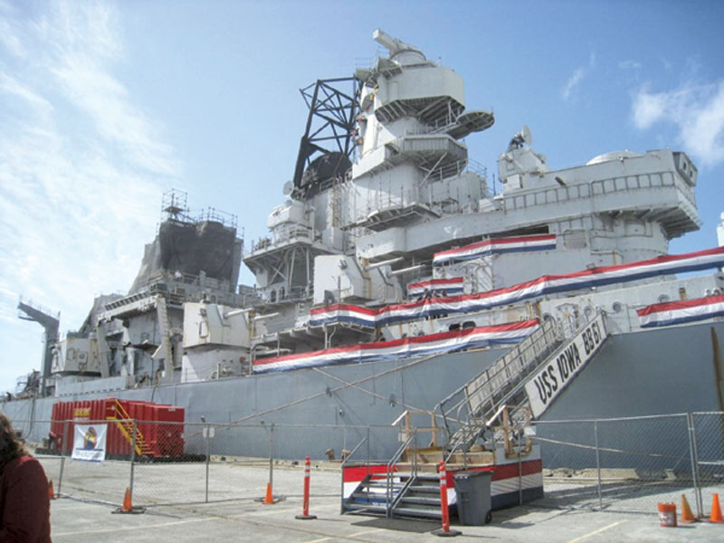 USS Iowa Gets Final Approval for L.A. Harbor Home