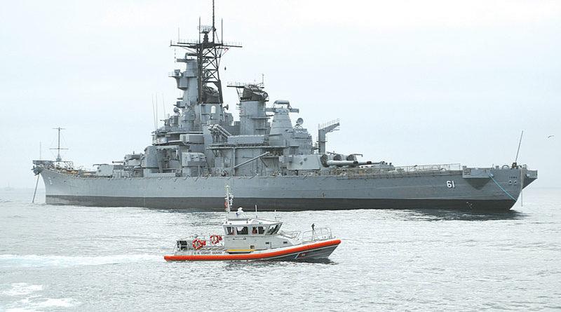 USS Iowa Arrives in L.A. Harbor June 9