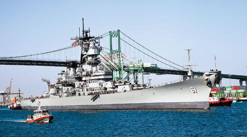 USS Iowa Comes Home to L.A. Harbor