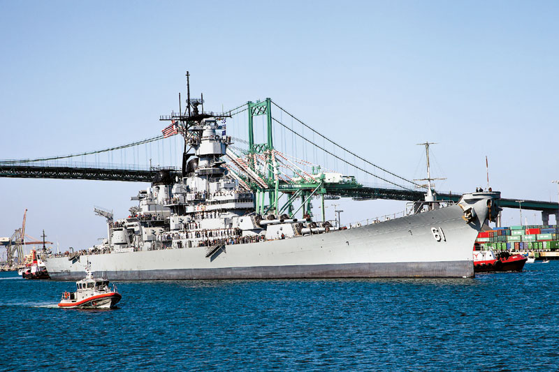USS Iowa Comes Home to L.A. Harbor