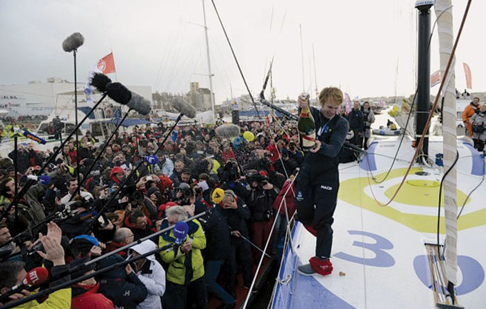 Francois Gabart Wins Vendee Globe Race in Record Time