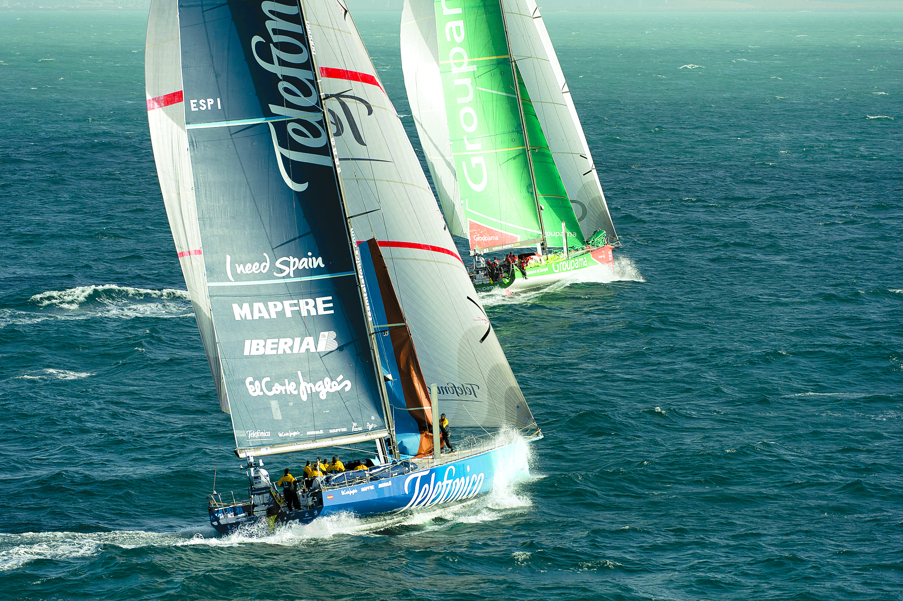 Groupama Wins Second- Leg Sprint in Volvo Ocean Race