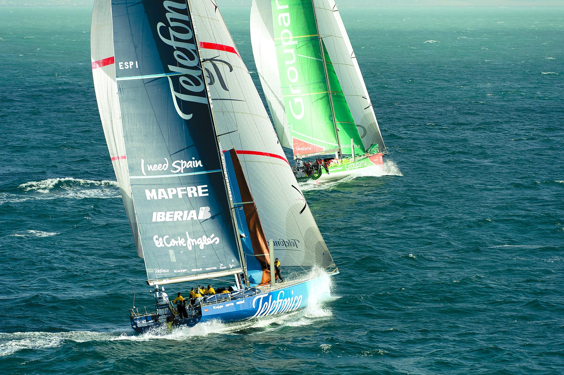 Groupama Wins Second- Leg Sprint in Volvo Ocean Race