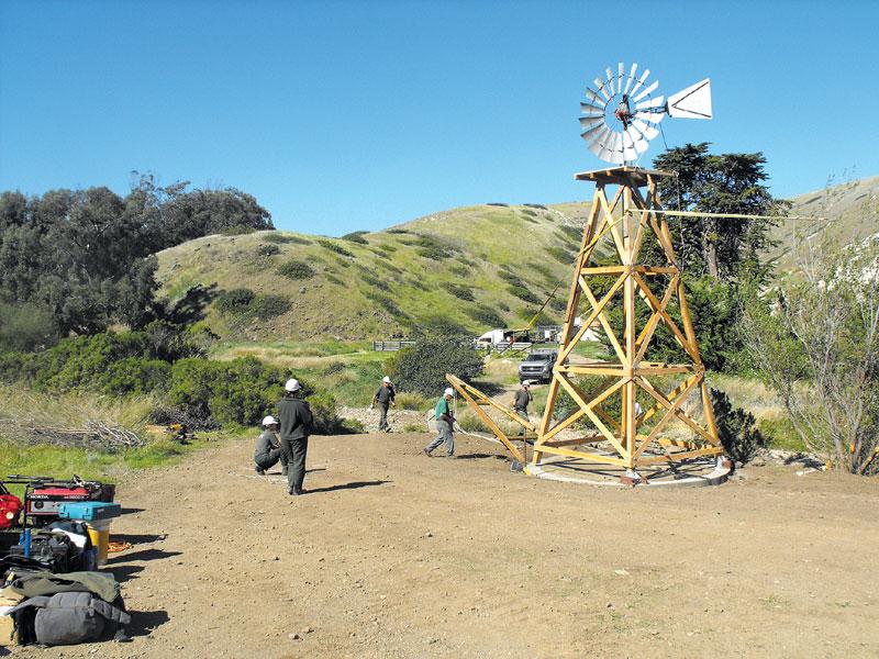 Santa Cruz Island's Historic Windmill Rebuilt